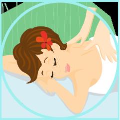 La séance de massage